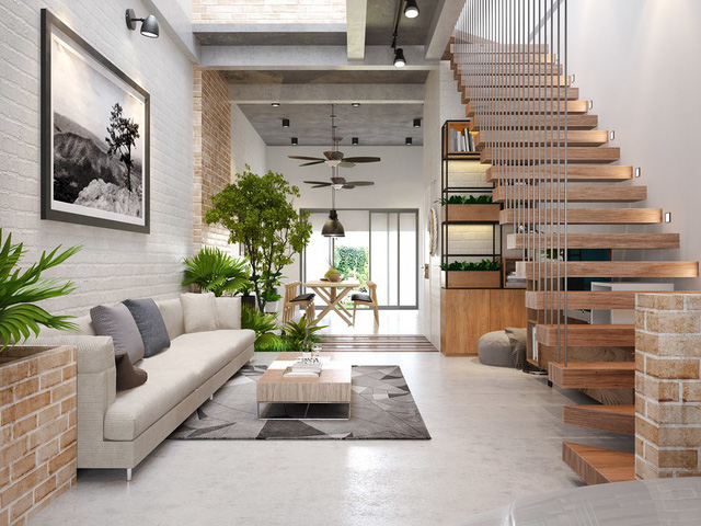 Thiết kế nội thất phòng khách nhà ống đẹp trong năm 2019